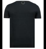 Local Fanatic ICONS Vertical - Luxe T shirt Heren - 6362Z - Zwart