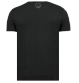 Local Fanatic King Fly Glitter - Stoere T shirt Heren - 6360Z - Zwart