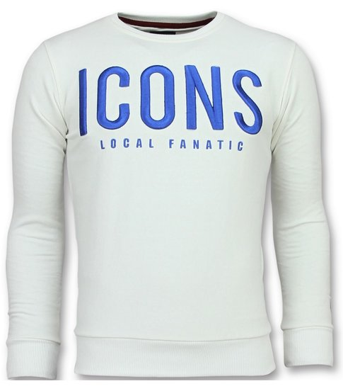 Local Fanatic ICONS - Leuke Sweater Heren - 6349W - Wit