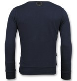Local Fanatic ICONS  Vertical - Coole Sweater Mannen - 6353N - Navy
