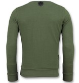 Local Fanatic ICONS Block - Grappige Sweater Mannen - 6355G - Groen