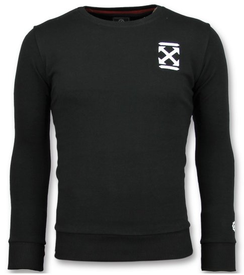 Local Fanatic Off Cross - Luxe Sweater Mannen - 6356Z - Zwart