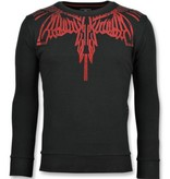Local Fanatic Eagle Glitter - Merk Sweater Mannen - 6340Z - Zwart
