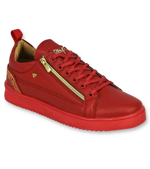 Cash Money Rode Heren Sneakers - Mannen Cesar Red Gold - CMP97