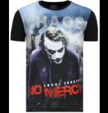 Local Fanatic The Joker Heren T shirt - Chaos No Mercy - Zwart