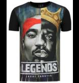 Local Fanatic Christopher Notorious T-shirt - 2PAC Legends - Zwart
