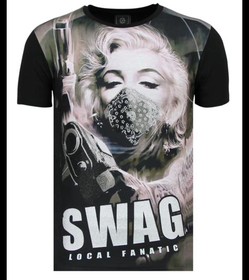 Local Fanatic Marilyn Monroe T shirts - SWAG - Zwart