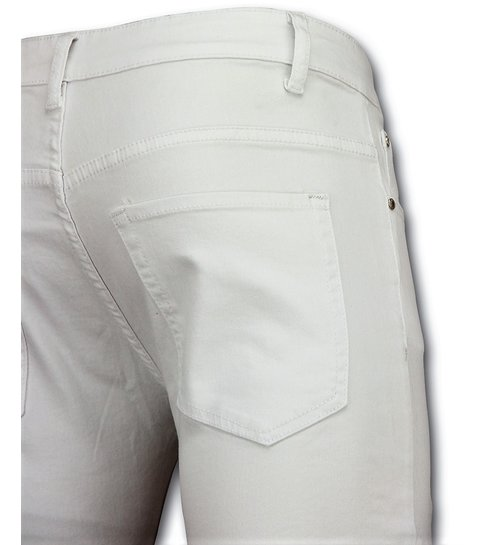 New Stone Witte biker skinny jeans heren - Mannen broek- 3017-1