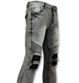 New Stone Grijze heren spijkerbroek biker jeans - 3012-2
