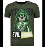 Local Fanatic Villain Duck - Fun T shirt Heren - 6325G - Groen