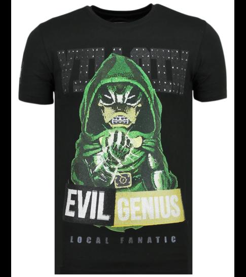 Local Fanatic Villain Duck - Vette T shirt Heren - 6325Z - Zwart
