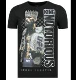 Local Fanatic King Notorious - Slim fit T shirt Mannen - 6324Z - Zwart