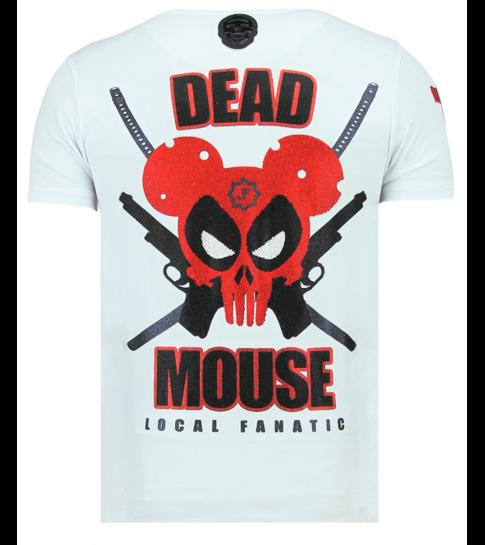 Local Fanatic Psycho Mouse - Leuke T shirt Mannen - 6321W - Wit