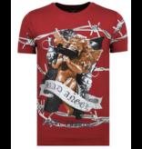 Local Fanatic Bad Angel - Funny T shirt Heren - 6318B - Bordeaux