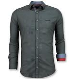 TONY BACKER Luxe Italiaanse Overhemden - Sunshine Blouse Heren - 3031 - Zwart