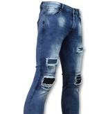 New Stone Biker jeans heren  met rits - Slim Fit - 1061- Blauw