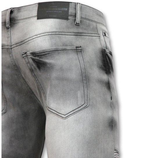 New Stone Biker jeans heren met rits - Stretch- 3001-11 - Grijs