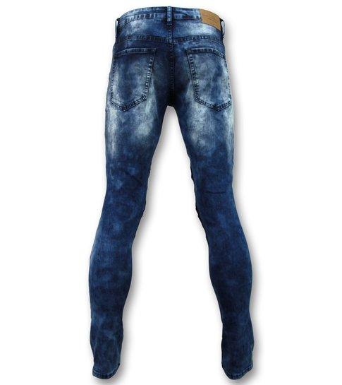New Stone Biker skinny jeans manen - Stretch - 3001 - Blauw