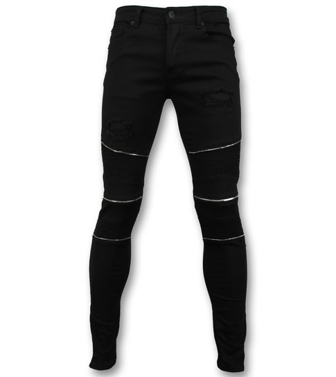 New Stone Skinny Biker jeans heren - Collectie Online - 3017-2 - Zwart
