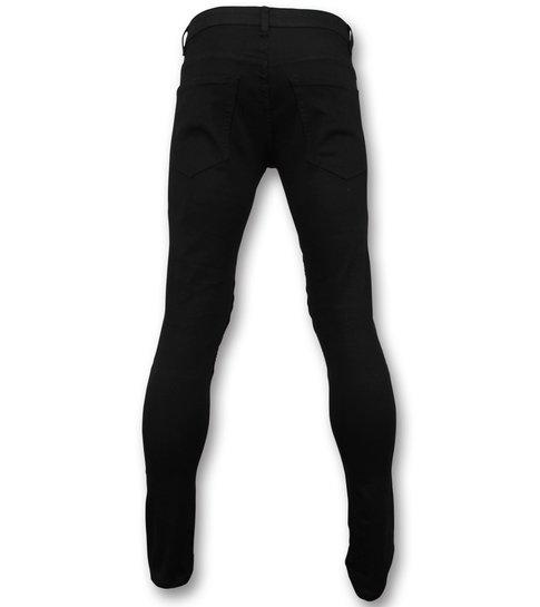TRUE RISE Skinny Biker jeans heren - Collectie Online - 3017-2 - Zwart