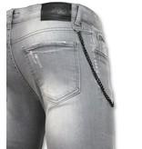 Doger Verfspatten heren jeans online - D32 - Grijs
