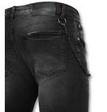 Doger Spijkerbroek met verfspatten mannen online - D29 - Zwart