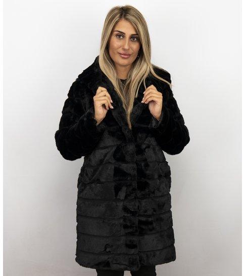 Save Style Bontjas Dames Lang – Parka – Zwart