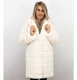 Style Italy Imitatie Bontjas Dames – Parka – White