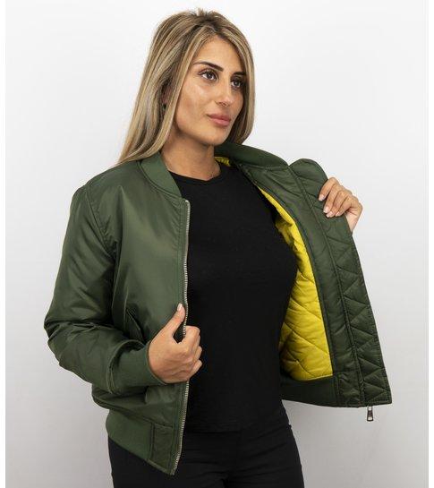 MATOGLA Bomberjack Dames - BomberJas - Bomber Jacket Dames  -Groen