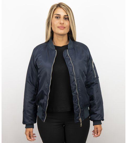 MATOGLA Bomberjack Dames - BomberJas - Bomber Jacket Dames  - Blauw