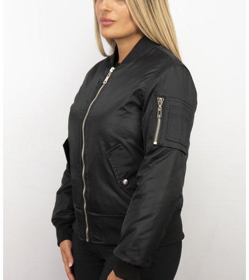 MATOGLA Bomberjack Dames - BomberJas - Bomber Jacket Dames  - Zwart