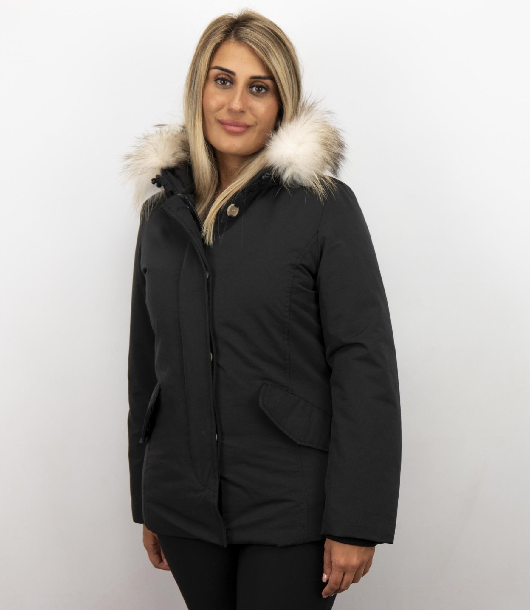Winterjas zwart | Winterjas | Parka winterjas dames |