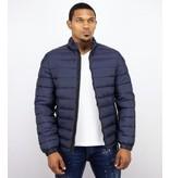 Enos Donkerblauwe Heren jas - Winterjas kort model Mannen