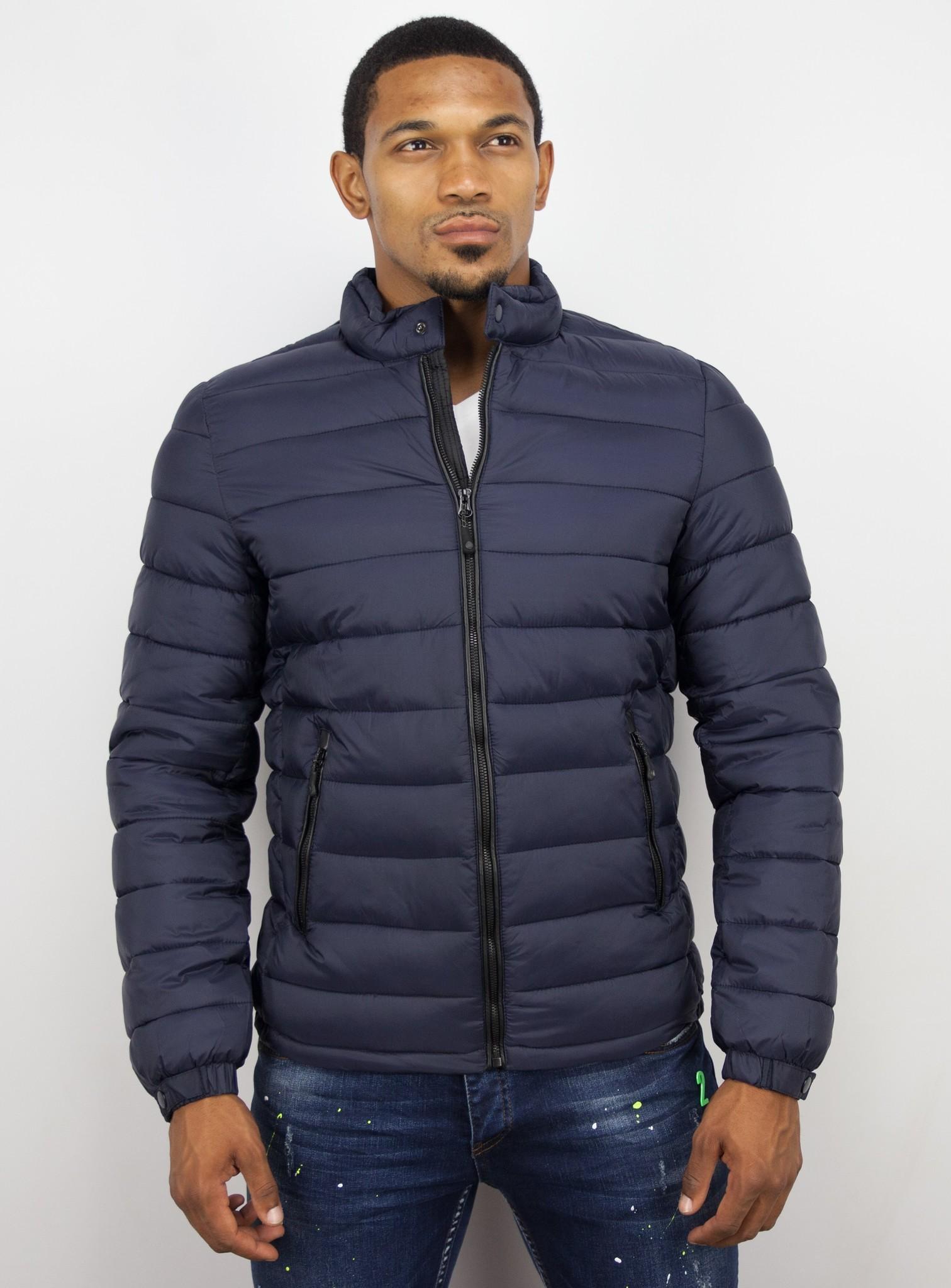 Donkerblauwe heren jas | GRATIS verzending | Style Italy