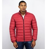 Enos Winterjas rood heren - Jacks voor mannen - PI-7027R - Rood