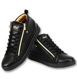 Cash Money Heren Sneaker Bee Black Gold V2- CMS98 -Zwart