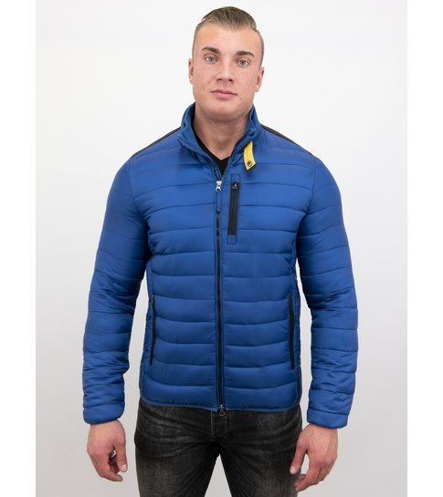Enos Heren Korte Jas - Slim Fit- Blauw