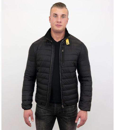 Enos Korte Heren Jas - Slim Fit- Zwart