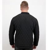 Enos Heren jas kort model - Slim Fit Jack - Zwart