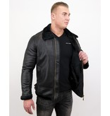 TONY BACKER Shearling jacket - Lammy Coat - Zwart