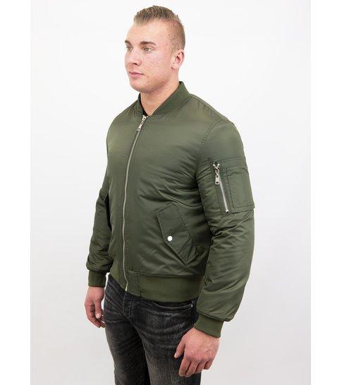 Beluomo BomberJack Heren - Bomber Jas Basic - Khaki