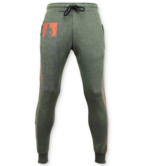 Local Fanatic Exclusieve  Sweatpants Heren - Mike Tyson Trainingsbroek - Groen