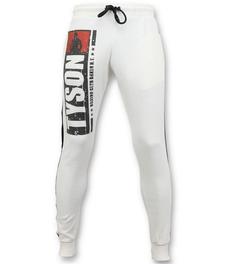 Local Fanatic Exclusieve Mannen Joggingbroek - Mike Tyson Boxing Club - Wit