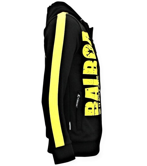 Local Fanatic Exclusieve Mannen Jogging vest - Rocky Balboa Boxing -  Zwart
