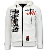 Local Fanatic Exclusieve Trainingsvest Heren - Muhammad Ali Print - Wit
