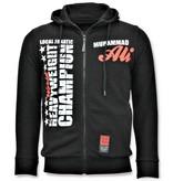 Local Fanatic Exclusieve Sportvest Heren - Muhammad Ali Champion Print - Zwart