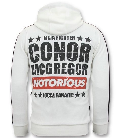 Local Fanatic Exclusieve Sportvest Heren - Conor Mcgregor Trainingsvest - Wit