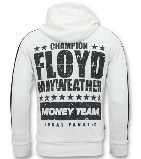 Local Fanatic Exclusieve Trainingsvest Heren  - TMT Floyd Mayweather - Wit