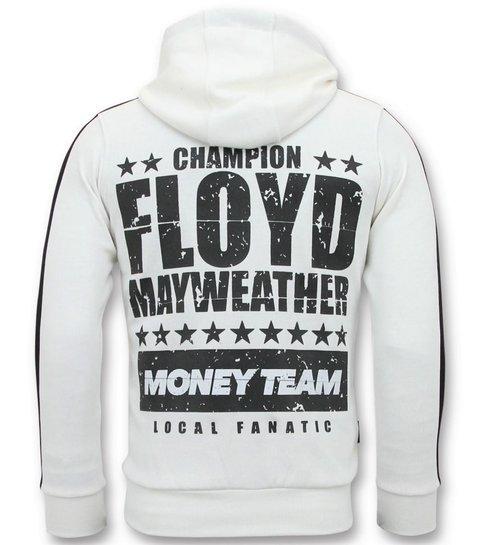 Local Fanatic Exclusieve Joggingpak Heren - TMT Floyd Mayweather Set - Wit