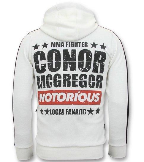 Local Fanatic Exclusieve Heren Joggingpak -  Mcgregor Notorious Sport Set - Wit